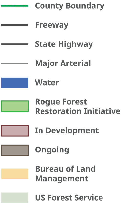 Map key for RFP project area